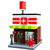Exclusive Mini City - Neighborhood Urgent Care and Pharmacy Custom Design Bricks Compatible with All Major Brands