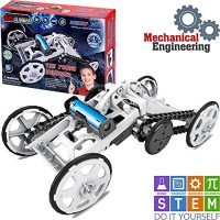 WISHKY STEM Toys Science Kits for Kids The Young Engineer- DIY Kit 4WD Electric Toy Car- Mechanical Kids Kit Experiment Gifts Teen Boys & Girls 8-12+