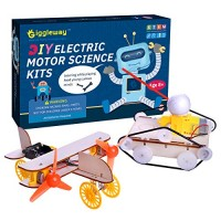 Giggleway Electric Motor Science Kits for Kids DIY Wooden Experiment Circuit Building STEM Toys Boys and Girls-Tank Model Kit Bird Taxiing Aircraft