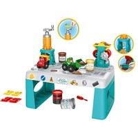 Bieay Construction Building Toys with Workbench Toy Vehicle Assembly Playset Two Engineering Vehicles Stem Learning Play Set for Kids Children Multicolor