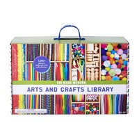 Kid Made Modern New Arts and Crafts Library Set - Crafting Supplies Art Projects in a Box