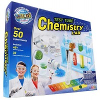 WILD Science Test Tube Chemistry Lab - 50+ Fun Experiments and Reactions for Kids Aged 8+ Explore STEM Learn About Solids Liquids Gases More