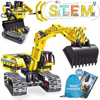 NOIHK Science Projects Kits for KidsBuilding Excavator Sets 7 8 9 10 Year Old Boys & Girls Construction Engineering Robot Toys Kids Age 6-12 Educational STEM Gifts