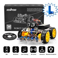 OSOYOO Robot Car Starter Kit for Arduino UNO R3 STEM Remote Controlled Educational Motorized Robotics Building Programming Learning How to Code IOT Mechanical DIY Coding Kids Teens Adults