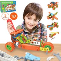136 PCS STEM Learning Toys - Educational Engineering and DIY Construction Kit Best Building Set for 6 7 8 9 10+ Year Olds Boys & Girls That Love to Build Creative Gift Play Kids