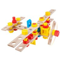 Alexander Toys Junior Constructor Aeroplane Sets are Wooden Construction & Stem Compliant and Designed as Toddler Friendly Kids Building