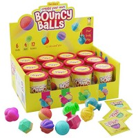 Make Your Own Bouncy Ball Kit - 12 Individual Kits Science Party Favors Cool Birthday Activities for Kids Create Crystal Balls Fun DIY Arts and Crafts STEM Projects