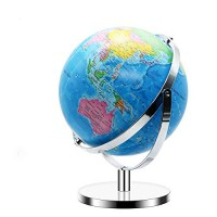 World Globe for Kids - with Stand Adults Geographic Globes Discovery Learning Toys of The 12 Inch