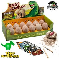 JITTERYGIT Dinosaur Toys for Boys and Girls - 12 Digging Eggs Game STEM Kids Activities Easter Best Gifts Age 3 4 5 6 7 8 9 10 11+