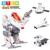 Sillbird STEM 4-in-1 Solar Science Robot kit for Kids Educational Space Moon Exploration Fleet Building Experiment Toys Boys and Girls Age of 8+ Years