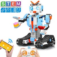 AOKESI Building Block Robot Kits for Kids Remote & APP Control Toys Engineering Science STEM 89-12 Year Old Boys and Girls
