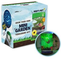 Moody Goat Terrarium Kit for Kids - Create Your Own Miniature Garden Fantastic DIY Craft Learning and Education- Stem Toy Certified Gifts Boys Girls Age 6 7 8 9 10 Year Old