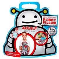 ARTSBOT Craft Kits - Make Your Own Creativity & Imagination On The Go Compact Mess-Free Stress-Free Art Kit for Boys and Girls 5+ Common Core Compatible 4 Great Robot Pillow