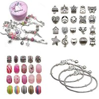 Mirabee Bracelet Beads Making Kit Toy for Children Aged 5-12 Friendship Beads Bracelets Birthday Gift for 6-14 Years Old Girls
