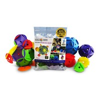 Space Chips 20 First Five Drons aka Platonic Solids 54 Piece Interlocking Disc Educational Toy for STEM Learning Children- Boys and Girls Creative Building Toys Ages 678910 11 12 Geometry Set