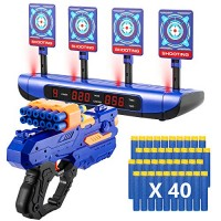 Electric Scoring Auto Reset Shooting Digital Target with Foam Dart Toy Shooting Blaster &