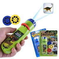 HahaGo Torch Projector Projection Lighting Story Torches Light Toy Slide Lamp Educational Learning Bedtime Night for Children 48 Images2set Dinosaur +Sea World
