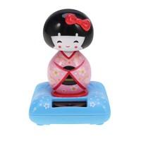 Solar Powered Shaking Head Halloween Dancer Doll Car Dashboard Ornaments