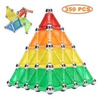 Kidsonor Magnetic Sticks Building Blocks Toys Educational Magnet 3D Construction Puzzle Toy DIY STEM Set for Kids and Adult 350PCS