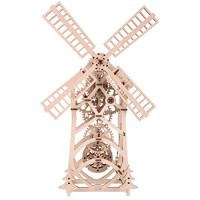 Yamix Windmill Craft Kit 3D Wooden Puzzle Mechanical Model Wood DIY Assembly Brain Teaser STEM Toys for Boys and Girls