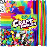 Carl & Kay Arts Crafts Supplies Creative Kids Gift Bulk Assorted Crafting Materials for Toddlers Sensory Bin Items STEM STEAM Learning Activity Toys Busy Box Craft Ideas