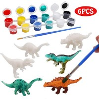 IAMGlobal Dinosaur Painting Kit DIY Arts and Crafts Set 3D Dinosaurs Modeling Craft STEM Educational 6 for Girls Boys