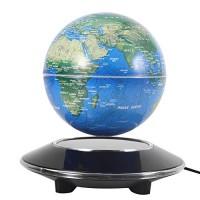 Office Hongzer Floating Globe Blue Floating Globe Magnetic Levitation Rotating World Map Globe with LED Light for Home