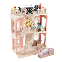 FULIM DIY Dollhouse Kit Set - Portable Doll House Playset Toddler Toys for 3