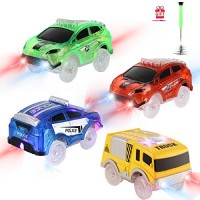 Tracks Cars Replacement only Toy Cars for Magic Tracks Glow in The Dark Racing