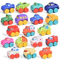 FUN LITTLE TOYS 18 PCs Baby Cars Toy Vehicles for Party Favors Goodie Bags