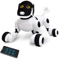 Contixo Puppy Smart V2 Robot Dog - Walking Pet Toy App Controlled for Kids Interactive Dance Voice Commands Bluetooth Obey Commands Singing Motion Sensor RC Boys and Girls