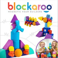 Blockaroo Magnetic Foam Building Blocks - STEM Construction Toy for Girls & Boys Soft Develop Early Learning Skills the Ultimate Bath Toys Toddlers Kids Windmill Set