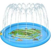 Zooawa Sprinkler Pad Dinosaur Zoo Pattern Summer Outdoor Wading Swimming Pool Splash Mat 67