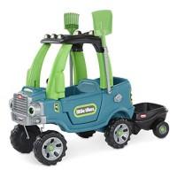 Little Tikes Go Green! Cozy Truck w/ Trailer & Garden Tools for Kids |