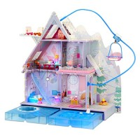 LOL Surprise OMG Winter Chill Cabin Wooden Doll House with 95+ Surprises Hot Tub
