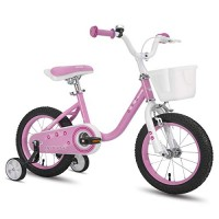 cycmoto 14 Kids Bike with Basket Hand Brake & Training Wheels for 3 4