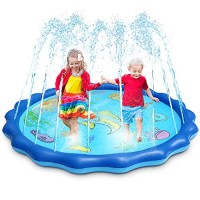 OMWay Water Sprinkler for Kids 69 Inch Large Size Splash Pad for ToddlersOutdoor Inflatable