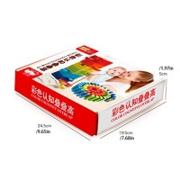 JIY 60 pcs Multicolored Color Recognition Stack It High Toy Game for Children