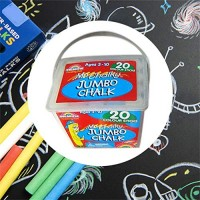 Shusuen 2020 New Sidewalk Chalk 12 Pieces 5colors Factory Washable Coloring Outdoor Kid Fun
