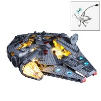 QJxF USB Light Set Compatible with Lego Star Wars Millennium Falcon 75257 LED Kit for Star Falcon Building Blocks Model Not Included Model