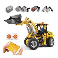 24G RC Bulldozer Truck Building Blocks Kits DIY Assemble - STEM Educational Construction Engineering Vehicle Toy Gifts for Age 8 Years Old and Up Kids Adults 1572 PCS