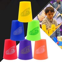 CHENZHIQIANG Intelligence Toys Great 6 PCS Mixed Colors Quick Stack Cup II Speed Training Sports Stacking Cups