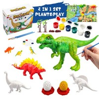Rapify 64 PCS 3D Dinosaur Toys for Kids DIY Arts Crafts and Supplies Set Painting Kit Decorate Your Dinosaur Dinosaur Modeling STEM Educational Set Toys for Kids Boys Girls Age 4 5 6 7 8 Years Old