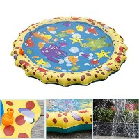KimBird Inflatable Sprinkler for Kids39 Sprinkler pad Play Mat Toddler Water ToyOutdoor Lawn Summer