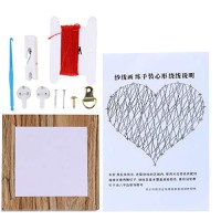 Geometric Nail String Art Kit for Kids Adults Craft Wooden Winding Picture