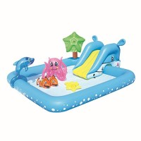 N/P Inflatable Play Center - Inflatable Swimming Pool Paddling Water Toys Dolphin Clownfish Octopus