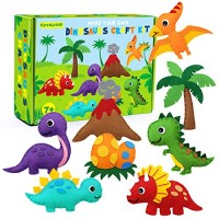 CiyvoLyeen Dinosaur Sewing Kit Felt Animal DIY Crafts for Girls and Boys Educational Kids Art Craft Kits Beginners