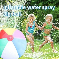 Haokanba Beach Ball Sprinkler (2952in) Large Kids Water Toy for Outdoor Yard Lawn Swimming