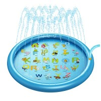 LHY Inflatable Splash Pad Sprinkler for Kids Toddlers Baby Swimming Pool Outdoor Games Water