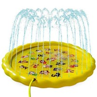 ZJB Inflatable Splash Sprinkler Pad for Kids Toddlers DogKiddie Baby Pool 68Inch Inflatable Outdoor